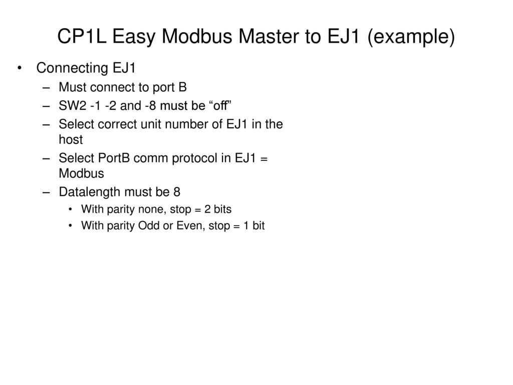 Easy Modbus Example