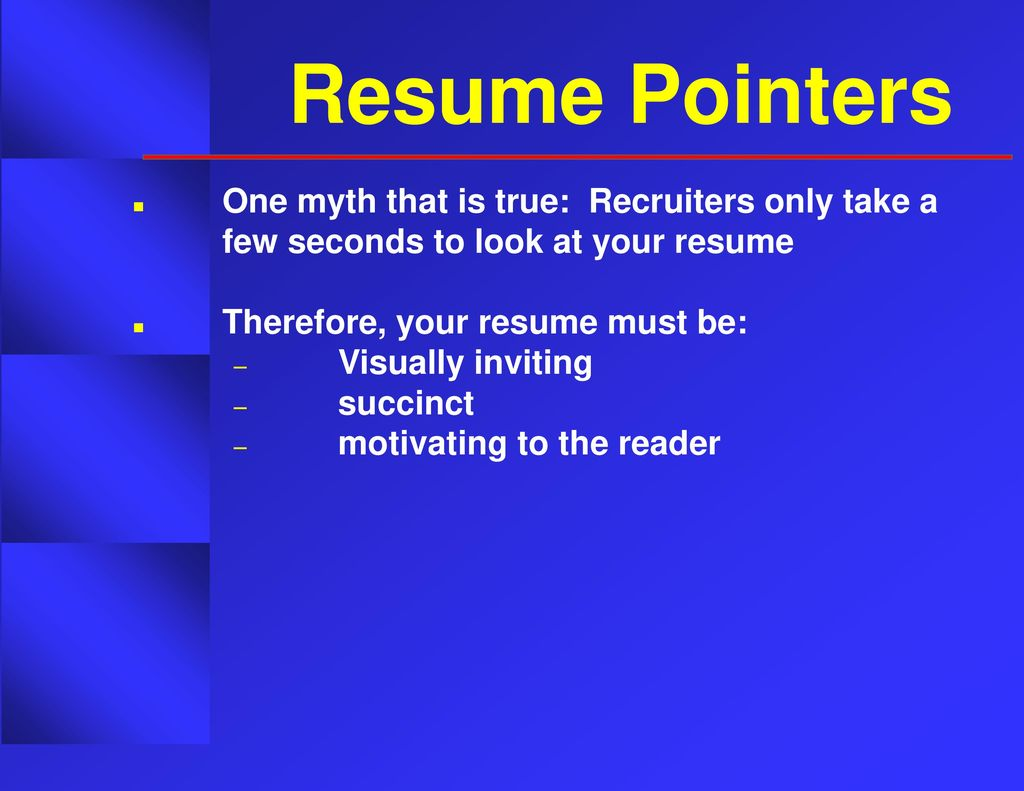 Targeting Your Resume JOBTALKS - ppt download