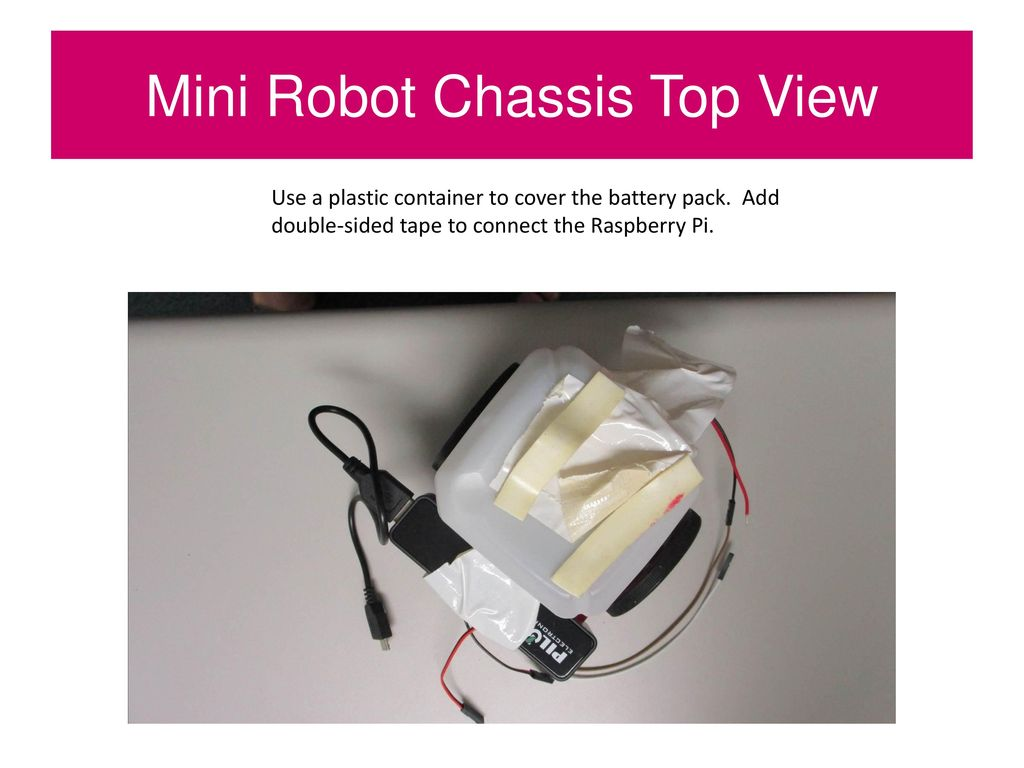 Mini Robot Chassis Top View - ppt download