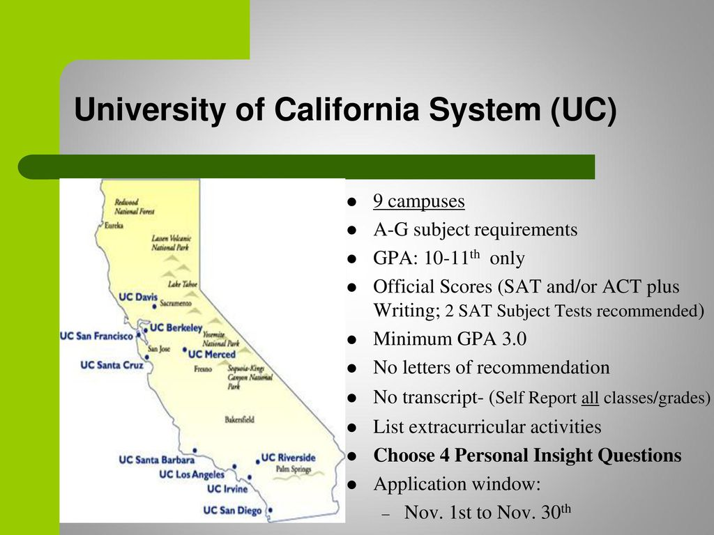 11 university of california
