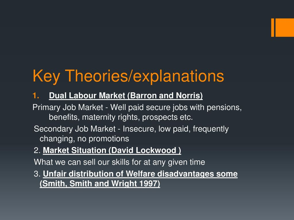dual labour market theory barron and norris