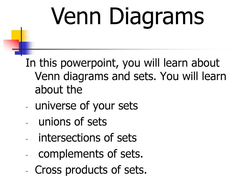 1 Venn Diagrams In This Powerpoint
