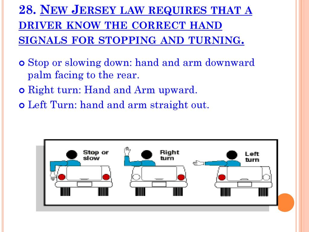 drivers hand signals new jersey