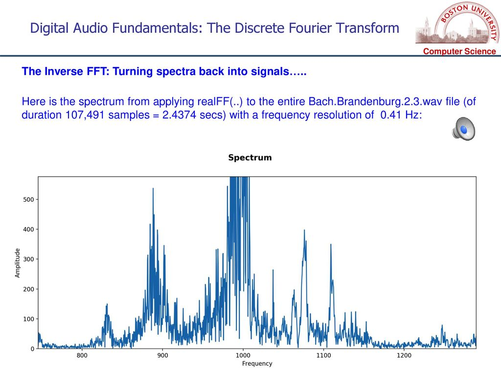 CS 591 S1 – Computational Audio - ppt download