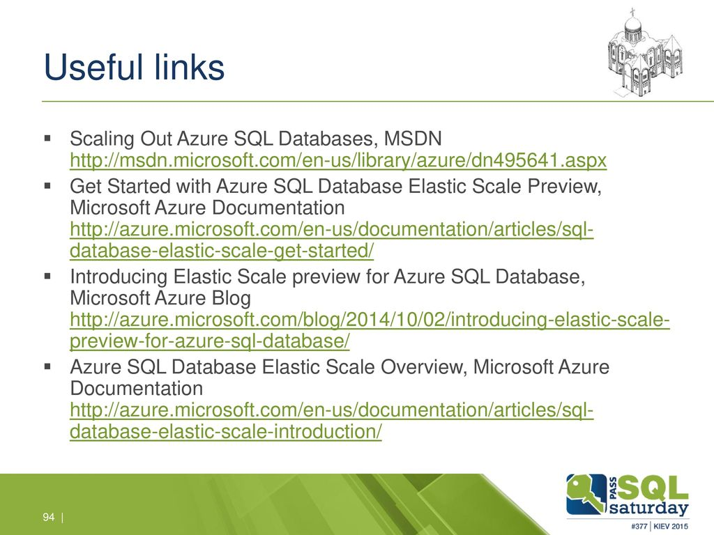 Scaling Out Microsoft Azure SQL Databases - ppt download