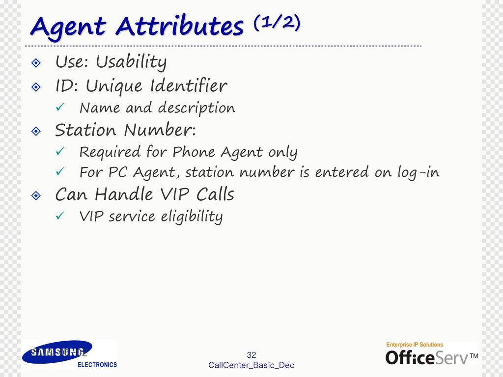 OfficeServ Call Center BASICS (prepared for ACD v3 1 2 and IVR v1