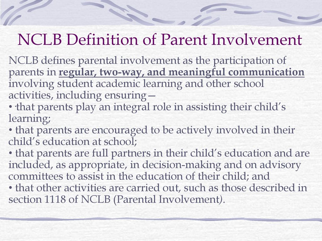 developing parent involvement policies - ppt download