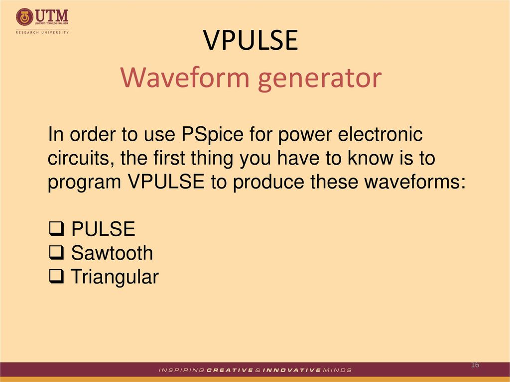 Simulation Of Power Electronic Systems Using Pspice Ppt Download The Circuit Is A Triangle Waveform Generator That Uses As Few Vpulse