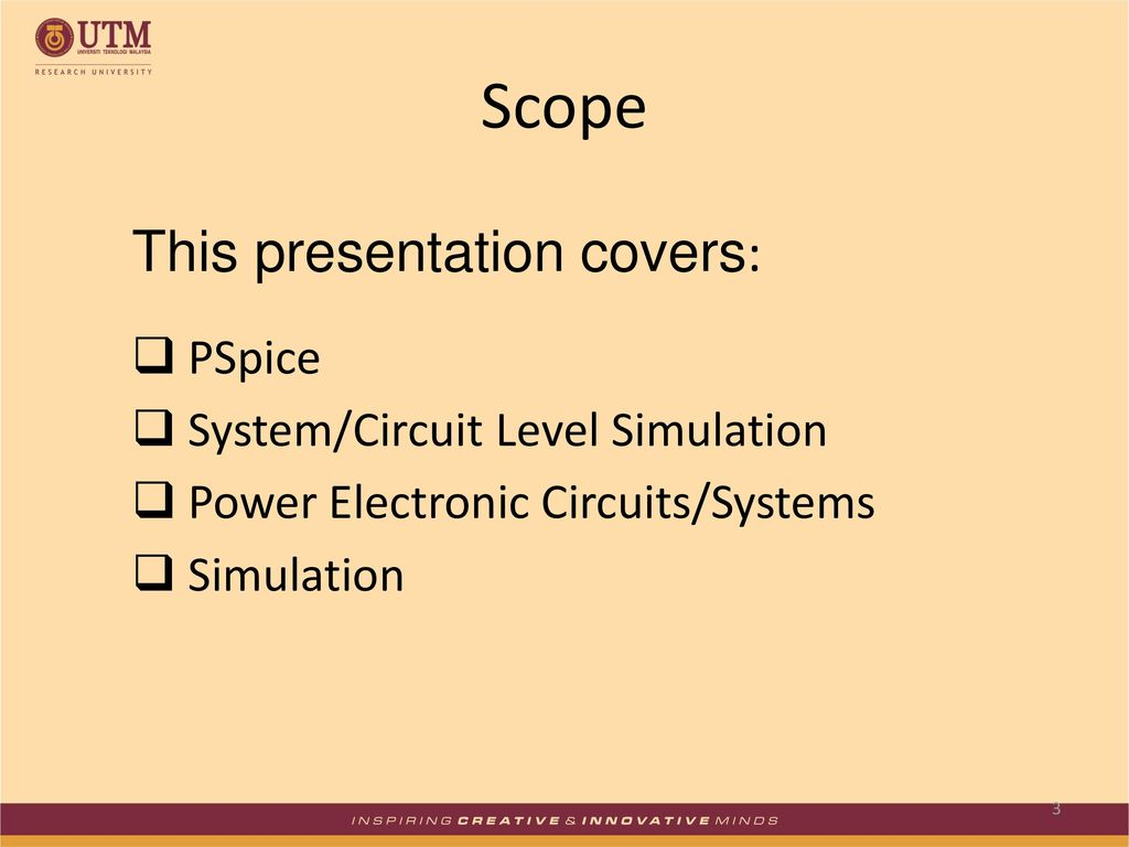 Simulation Of Power Electronic Systems Using Pspice Ppt Download Circuits Simulator Scope This Presentation Covers System Circuit Level