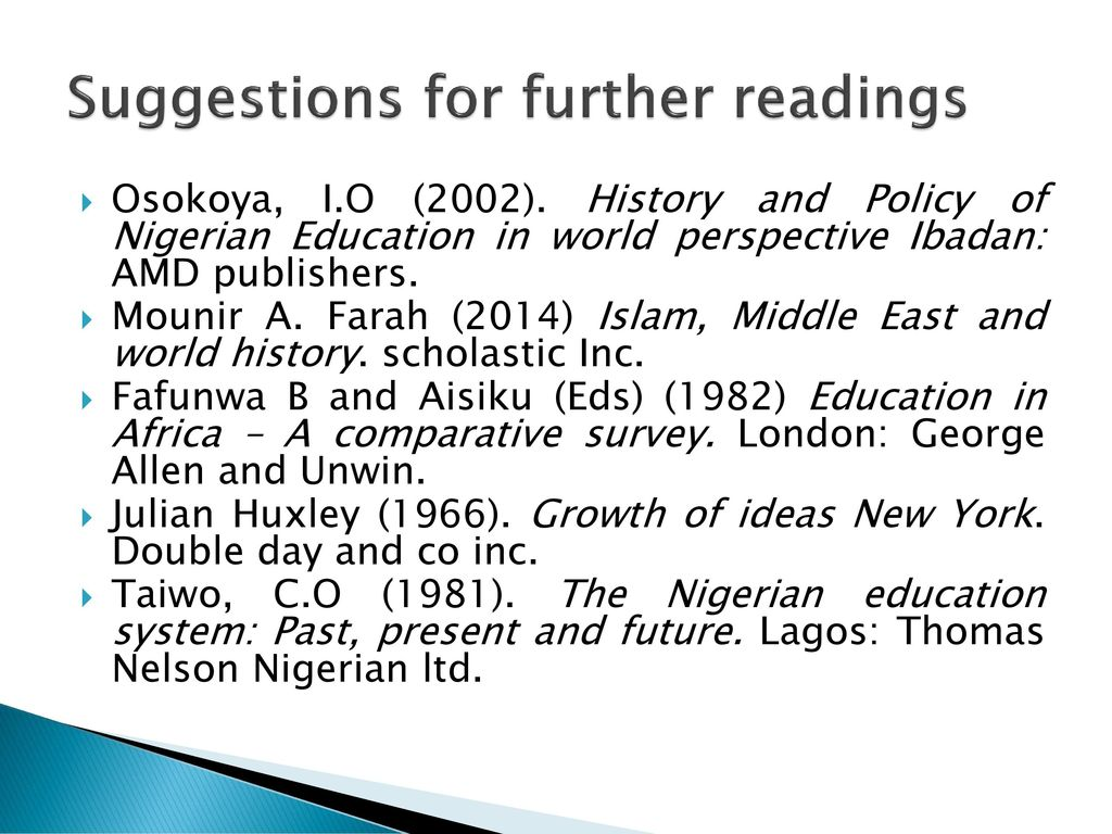 history of education in nigeria by fafunwa