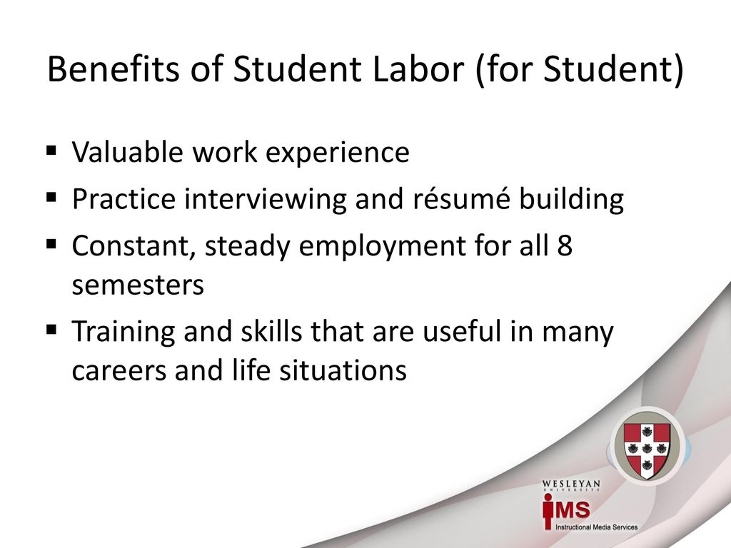 The IMS Way: Leveraging Student Labor Effectively - ppt download