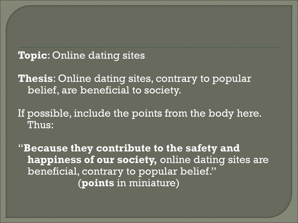 Beneficial dating sites