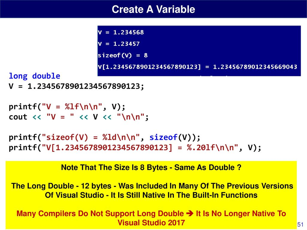 Review C Programming Language Ppt Download Microcontroller Bitwise Operators 1 8211 Tutorial 8 Note That The Size Is Bytes Same As Double