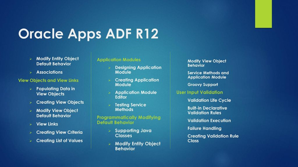 TECHLEADS IT Oracle Apps ADF R12 - ppt download