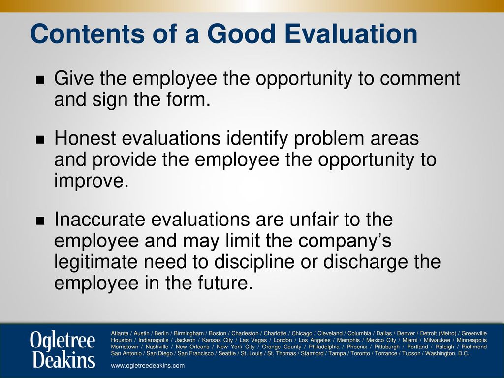 Evaluating Employee Performance without Creating Legal Liability ...
