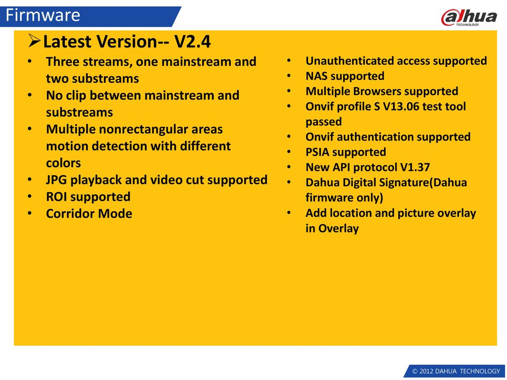 Network Camera Latest Firmware feature ppt download