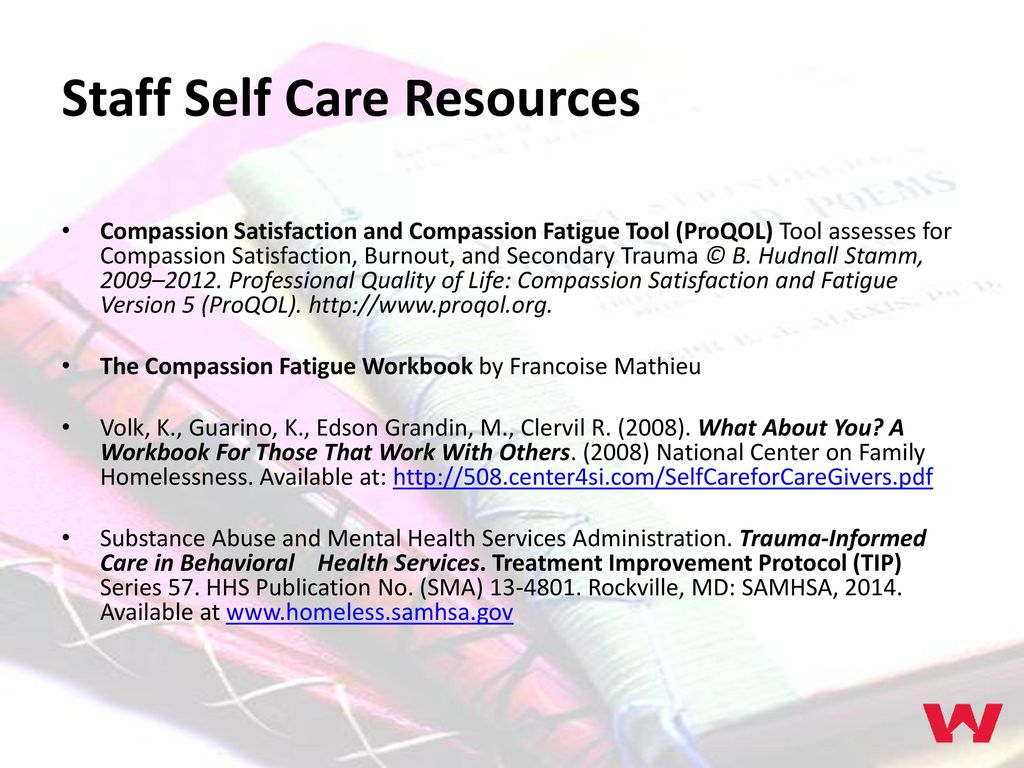 Avoiding Burnout: Staff Self Care Amy Turk, LCSW Chief