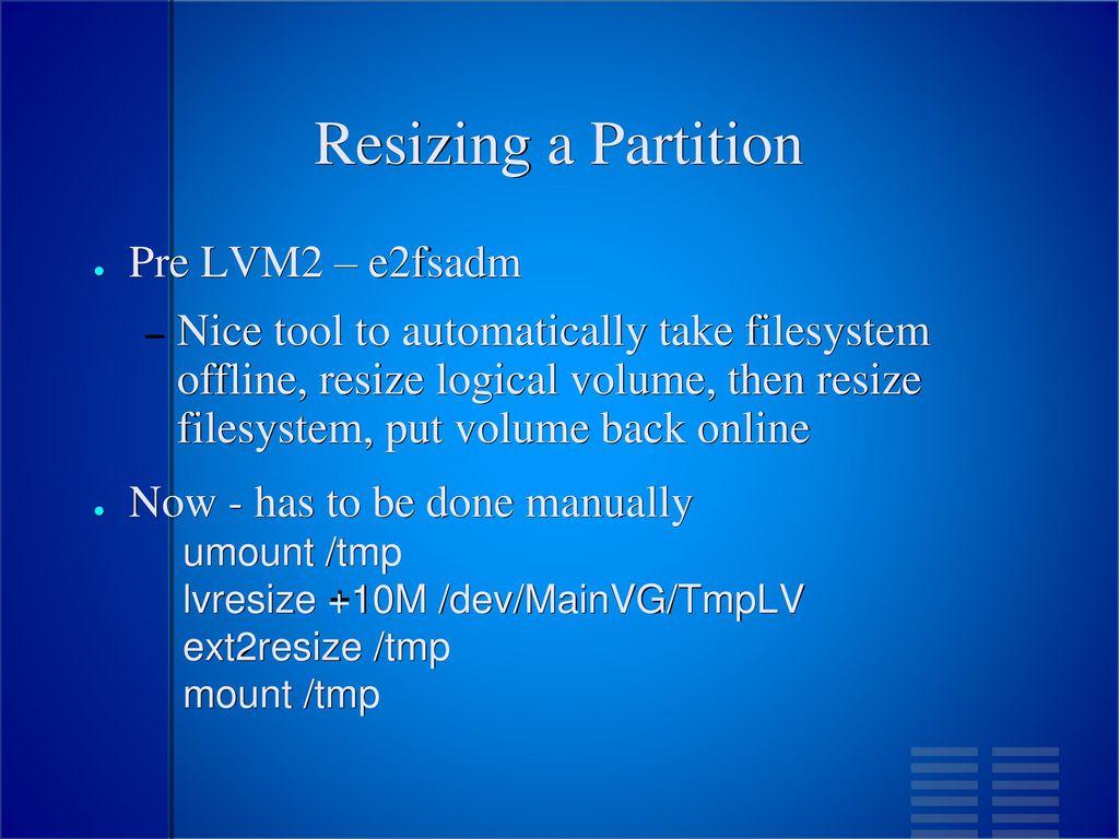 Linux Software RAID & LVM Patrick Ladd 5/2/ ppt download