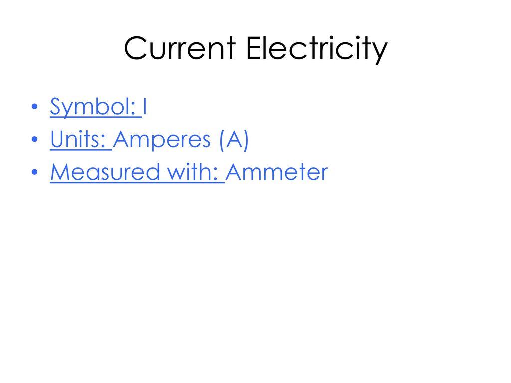Electric Current Basics Ppt Download