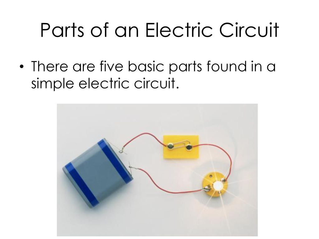 Electric Current Basics Ppt Download Of Electrical Circuit Parts An