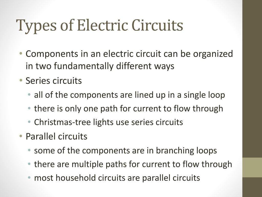 Exelent Different Types Of Electric Circuits Adornment - Electrical ...