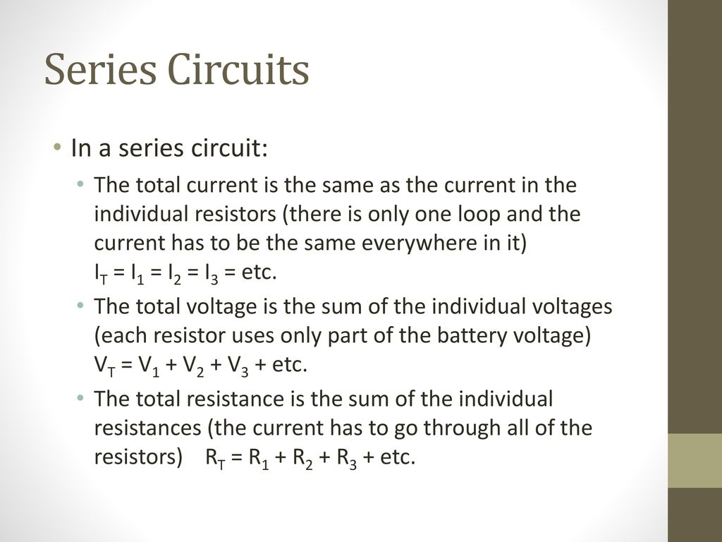 Circuit Diagrams Use Symbols To Represent The Series 4