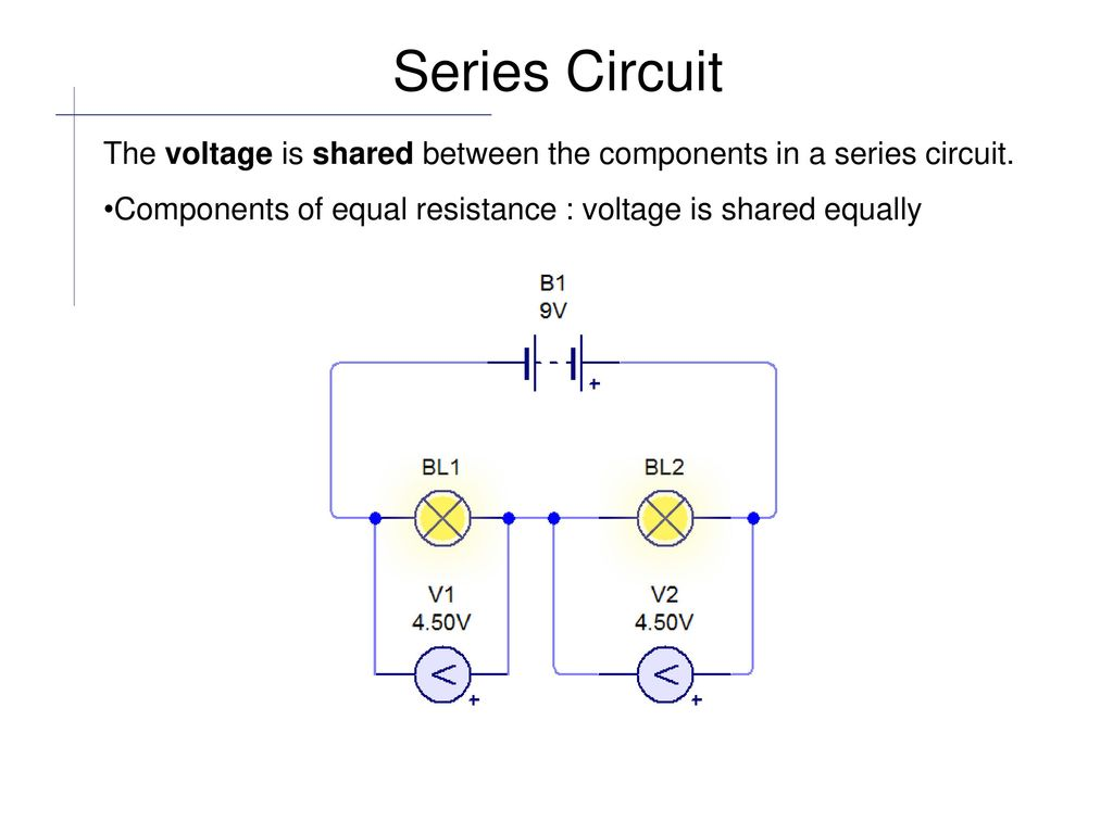 Electric Circuit Components Are Connected Together With Electrical A Series Diagram 9