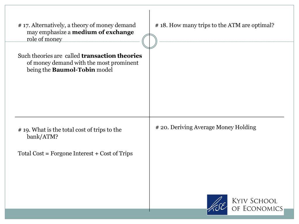 transaction theory of money