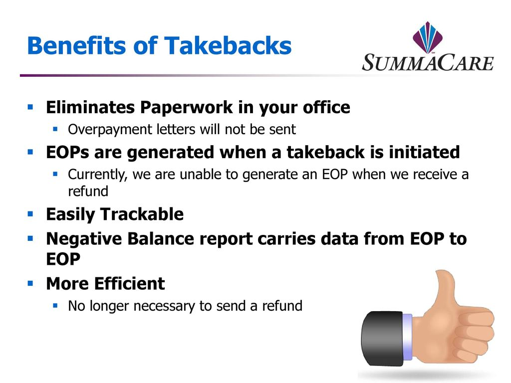 Overpayment Recoveries: Takebacks - ppt download