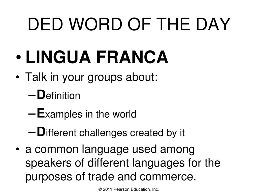 Ded Word Of The Day Lingua Franca Definition Examples In The World