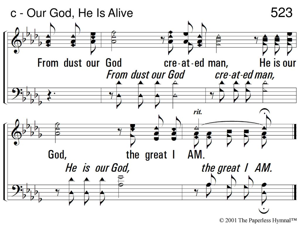 Our God, He Is Alive 1  There is, beyond the azure blue, - ppt download