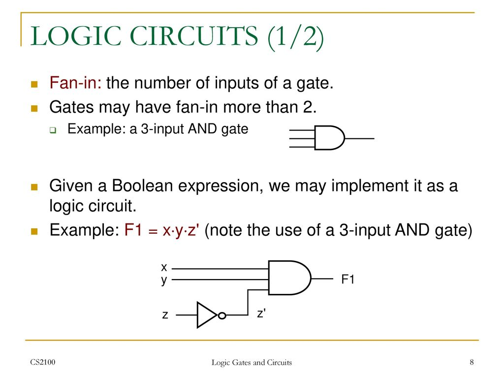 Gates And Circuit