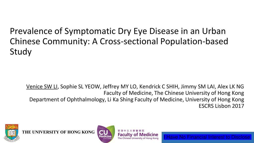 Prevalence of Symptomatic Dry Eye Disease in an Urban