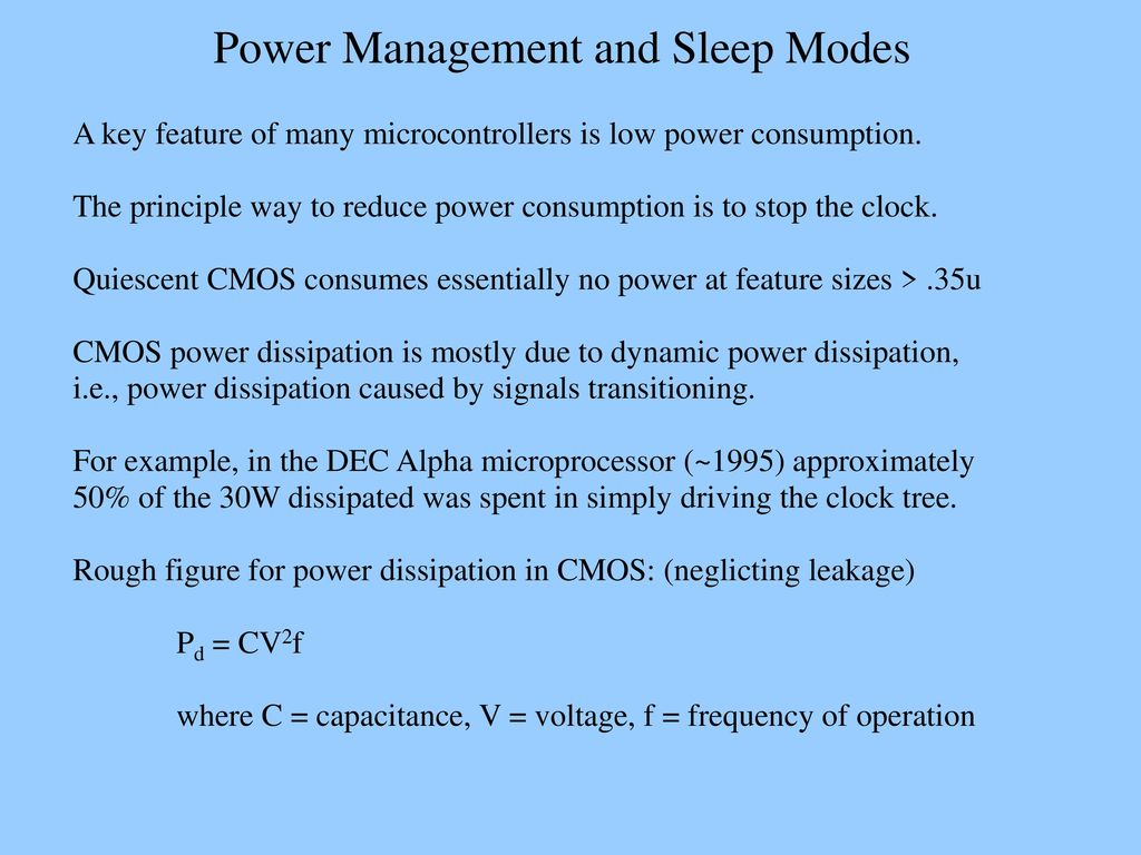 Power Management and Sleep Modes - ppt download