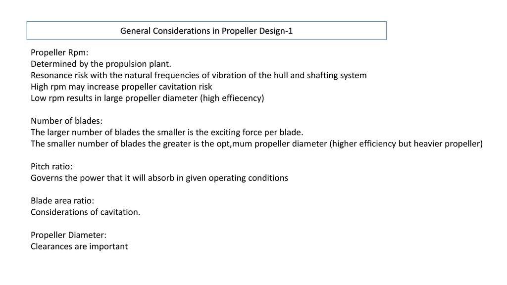Propeller Design  - ppt download