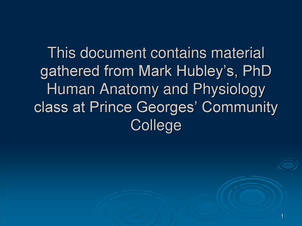 This document contains material gathered from Mark Hubley\'s, PhD ...