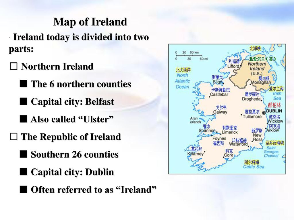 Map Of Ireland 26 Counties.A Brief Introduction To Northern Ireland Ppt Download