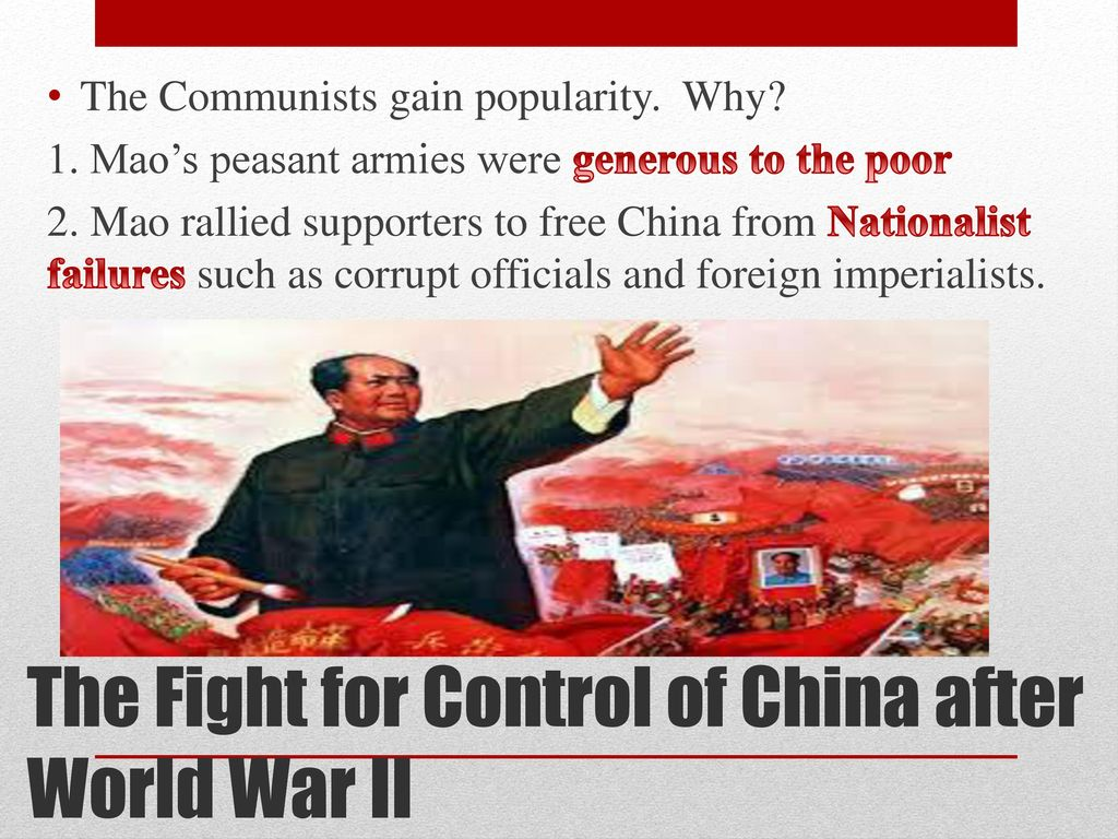 The Fight for Control of China after World War II