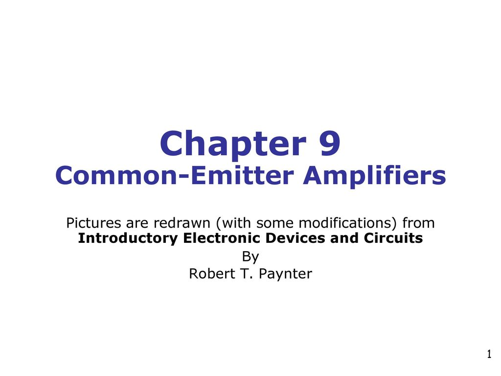 Chapter 9 Common Emitter Amplifiers Ppt Download The Amplifier Circuit