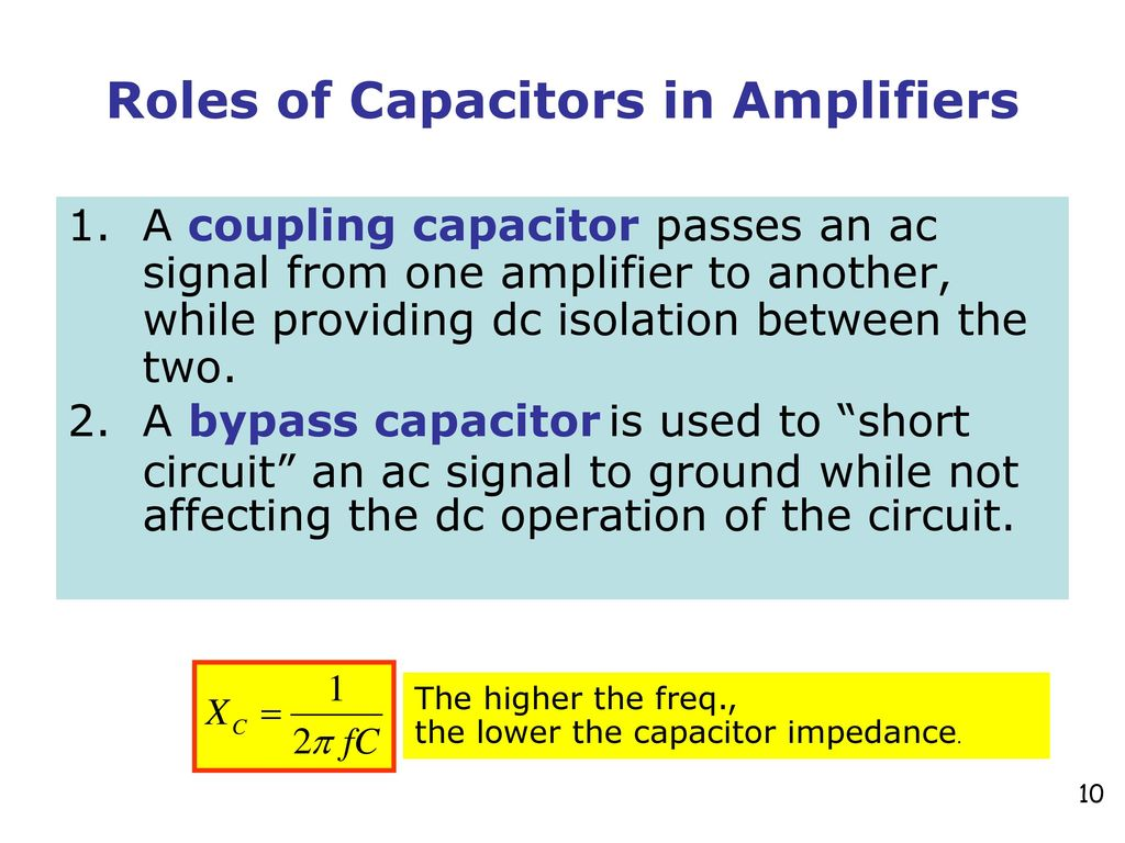 Chapter 9 Common Emitter Amplifiers Ppt Download Fig 2n3904 Transistor Amplifier Design Example The Was Roles Of Capacitors In