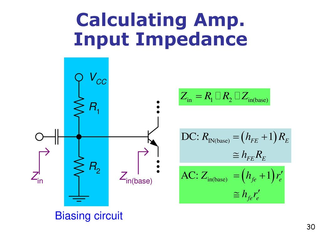 Chapter 9 Common Emitter Amplifiers Ppt Download Circuit Impedance Calculator 30 Calculating Amp Input