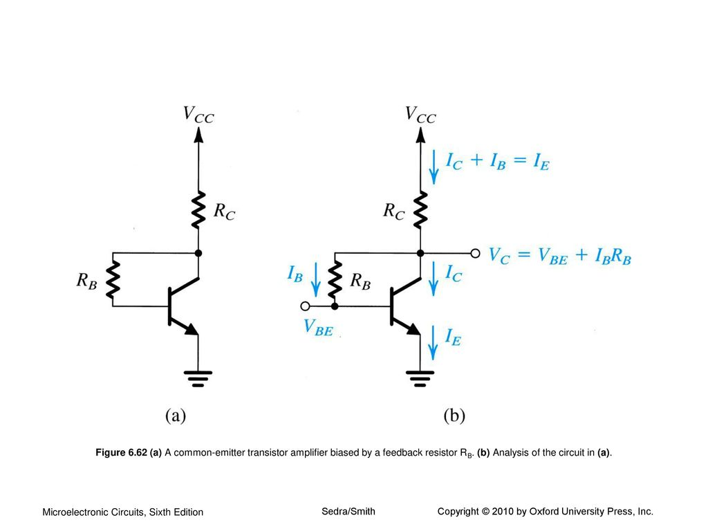 Bipolar Junction Transistors Bjts Ppt Download Transistor Amplifiers Figure 662 A Common Emitter Amplifier Biased By Feedback Resistor