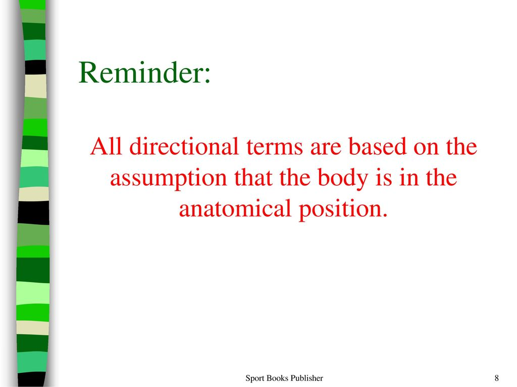 Human Anatomy Chapter 2 Sport Books Publisher. - ppt download