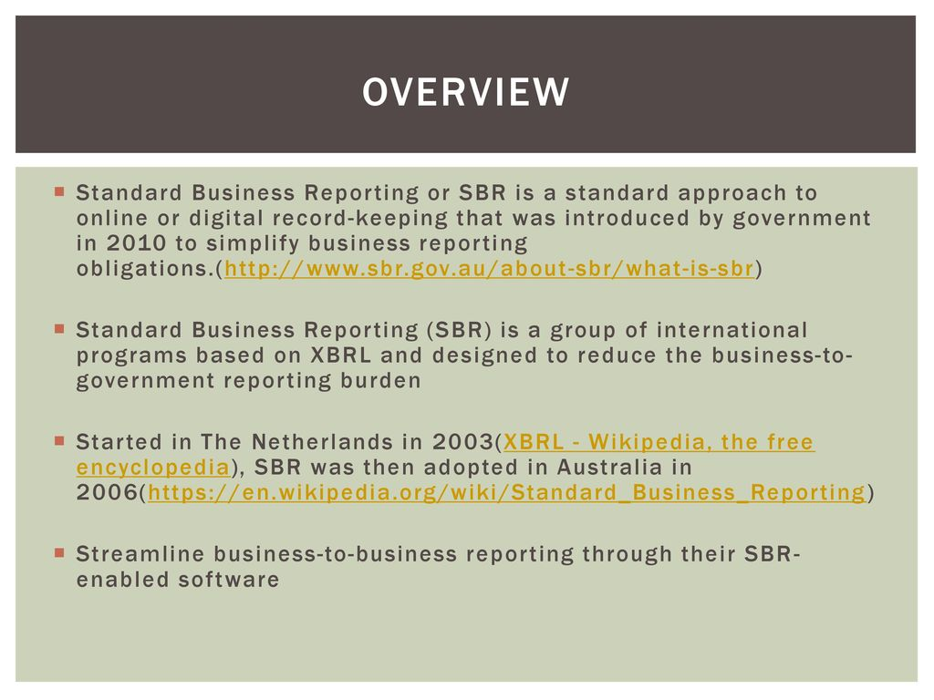 business reporting process and its requirements