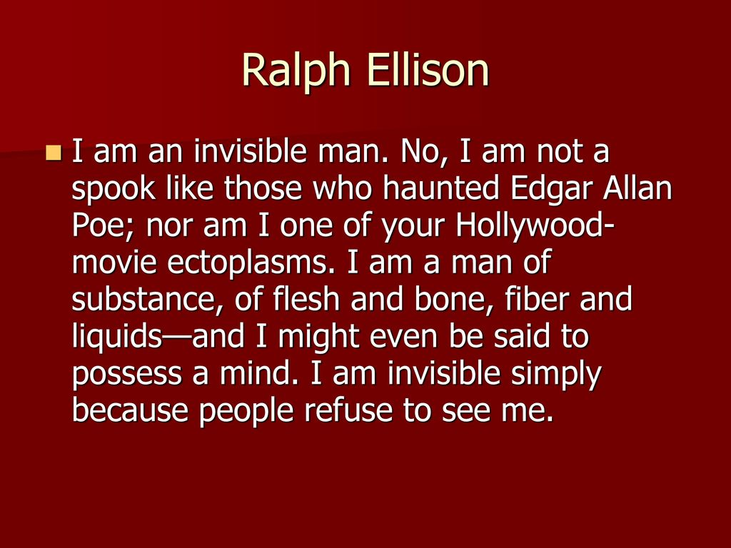 invisible man ralph ellison themes