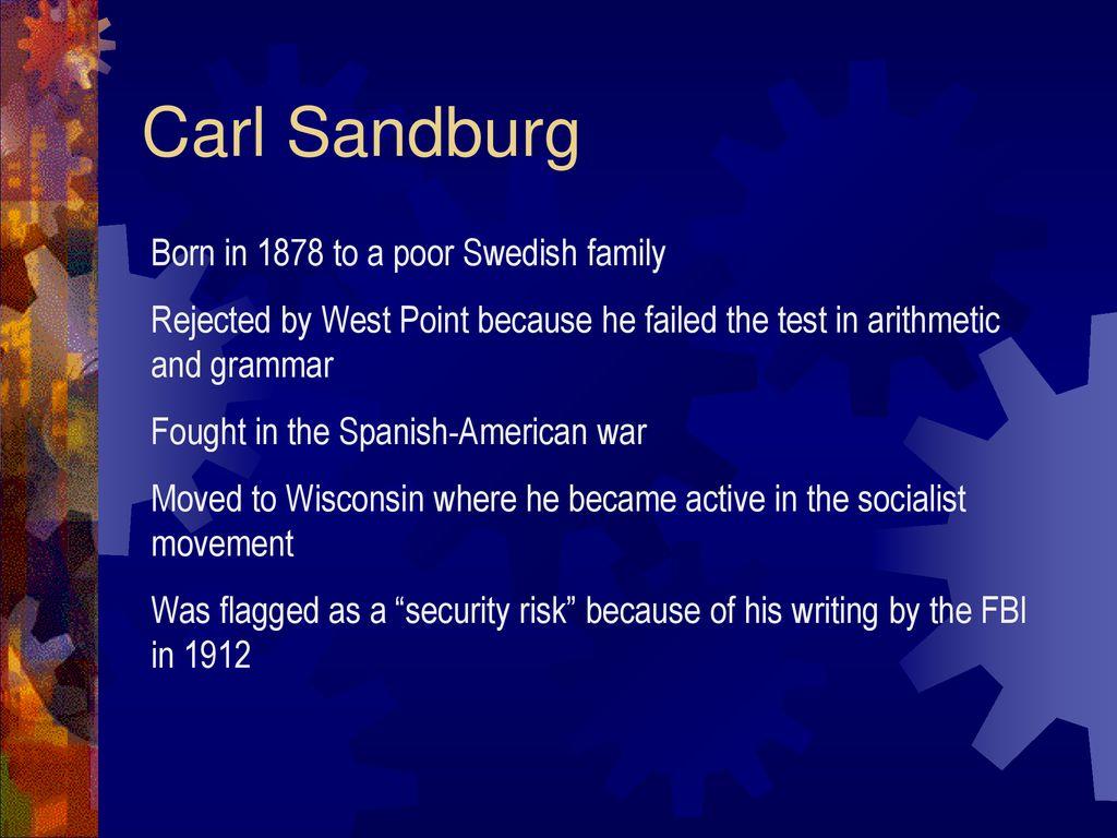 carl sandburg killers