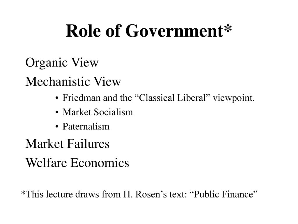 organic view of government
