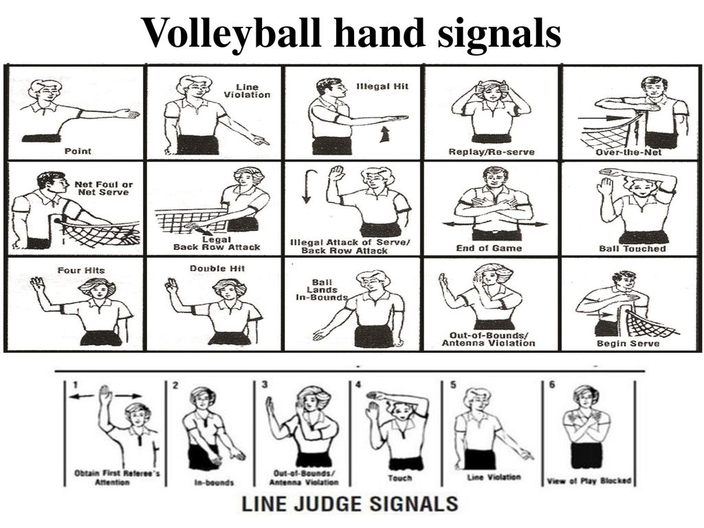 Hand Signals On Volleyball