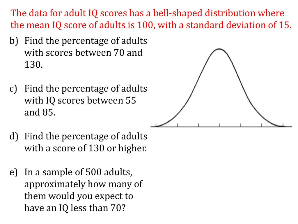 Normal Distribution When we collect data from an experiment