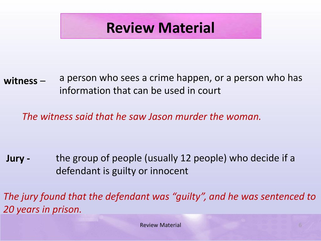 Review Material A presentation by: Kenneth Joe Galloway CEO